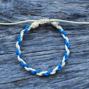 Bohemian Braided Shoreline Adj Anklet Bracelet